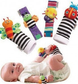 4-x-Baby-Infant-Soft-Toy-Wrist-Rattles-Hands-Foots-finders-Developmental-LAMAZE-0