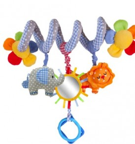 ADS-Baby-Bed-Stroller-Toy-Baby-Rattle-Bed-Hanging-Toy-Blue-0