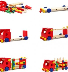 Smartoy-Cool-Wood-Screw-Assembly-Vehicle-Toy-Red-0