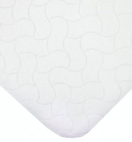 American-Baby-Company-Waterproof-Embossed-Quilt-like-Flat-Bassinet-Protective-Pad-Cover-White-0