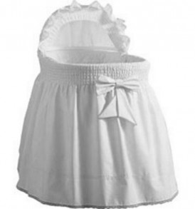 Baby-Doll-Sea-Shell-Bassinet-Bedding-White-0