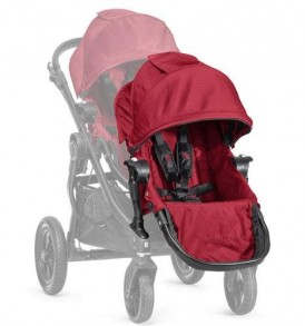 Baby-jogger-City-Select-Second-Seat-Black-Frame-Kit-Red-0