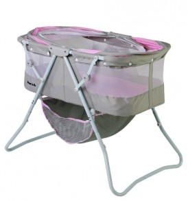 Dream-On-Me-Karley-Bassinet-Grey-and-Pink-0