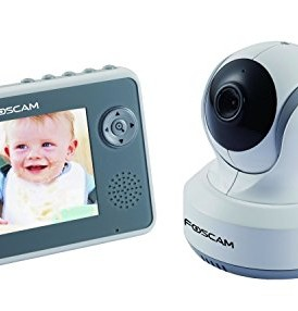 Foscam-FBM3501-Digital-Video-Baby-Monitor-24-Ghz-with-PanTilt-Nightvision-and-Two-Way-AudioVideo-Camera-with-35-Inch-LCD-WhiteGray-0