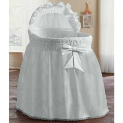Precious-Bassinet-LinerSkirt-Hood-color-White-Size-17inch-x-31inch-0