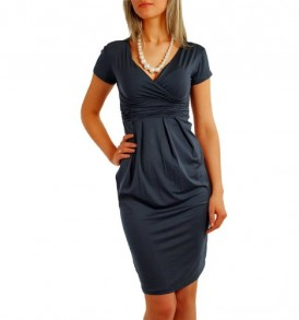 Fancy-That-Clothing-Womens-Short-Sleeve-Stretch-Summer-Maternity-Dress-Medium-Graphite-Grey-0