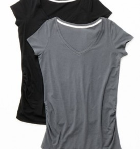 Motherhood-BumpStart-Short-Sleeve-V-neck-2-pack-Maternity-T-Shirt-0