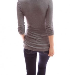 PattyBoutik-Mama-Comfy-Cowl-Neck-Buttons-Down-Long-Sleeve-Maternity-Nursing-Tunic-Blouse-Top-Grey-L-0