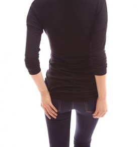 PattyBoutik-Mama-Cowl-Neck-Drop-Shoulder-Long-Sleeve-Maternity-Blouse-Top-Black-M-0