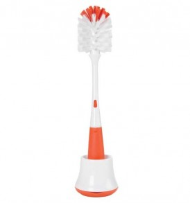 OXO-Tot-Bottle-Brush-with-Nipple-Cleaner-and-Stand-Orange-0
