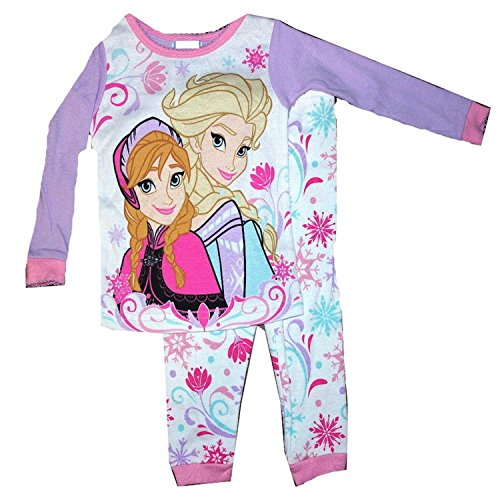 Disney-Frozen-2-Piece-Cotton-Elsa-Anna-Pants-Pajama-Set-5T-0