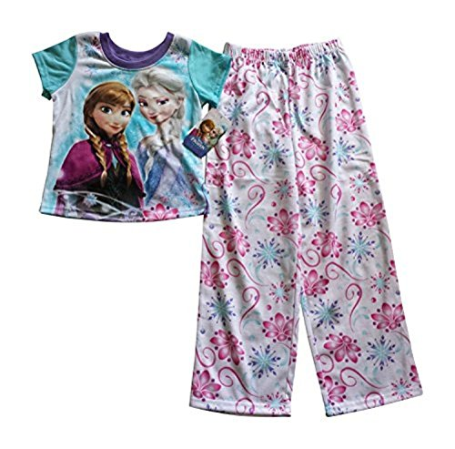 Disney-Frozen-Elsa-Anna-2-Piece-Pajama-Pants-Set-Medium-7-8-0