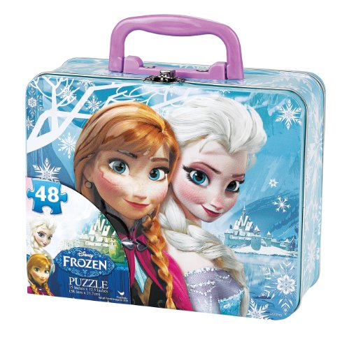 Disney-Frozen-Puzzle-in-Tin-with-Handle-48-Piece-0