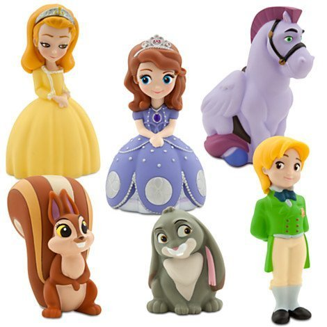 Disney-Junior-SOFIA-THE-FIRST-6-Piece-Bath-Set-Featuring-Sofia-the-First-Prince-James-Clover-Whatnaught-Minimus-and-Princess-Amber-Bath-Toys-Measuring-2-to-5-Inches-Tall-0