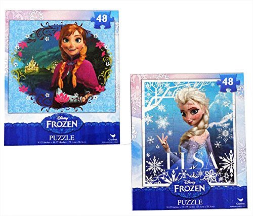 Frozen-Princesses-Anna-and-Elsa-48-Piece-Puzzles-Set-of-2-Puzzles-0