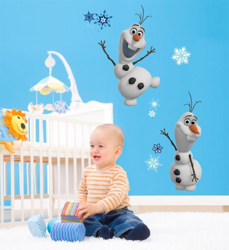 Roommates-Rmk2372Scs-Frozen-Olaf-The-Snow-Man-Peel-And-Stick-Wall-Decals-25-Count-1-Pack-0