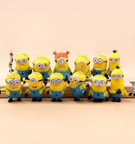 12-X-Despicable-Me-The-Minions-PVC-Miniature-Toy-Figures-3-4cm12-16inch-Tall-0