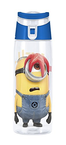 Zak-Designs-Tritan-Water-Bottle-with-Flip-top-Cap-and-Despicable-Me-2-Minions-Graphics-BPA-Free-25oz-0