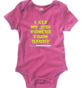 Badass-Babies-Baby-Bodysuits-I-Get-My-Jedi-Power-From-Daddy-3-6-Months-Berry-0