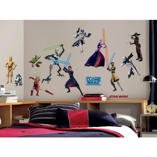 RoomMates-RMK1382SCS-Star-Wars-the-Clone-Wars-Glow-in-the-Dark-Wall-Decals-Pack-of-28-0-1