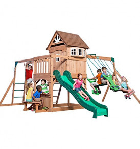 Backyard-Discovery-Montpelier-All-Cedar-Wood-Playset-Swing-Set-0