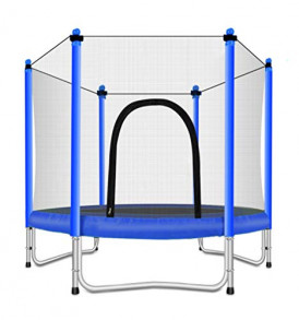 Fashionsport-OUTFITTERS-Trampoline-with-Safety-Enclosure-Indoor-or-Outdoor-Trampoline-for-Kids-Blue-5FT-0