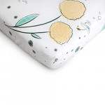 JumpOff-Jo-100-Cotton-Super-Soft-Floral-Crib-Sheet-Hypoallergenic-and-Breathable-Crib-Mattress-Topper-Flower-Design-Fairy-Blossoms-0-5