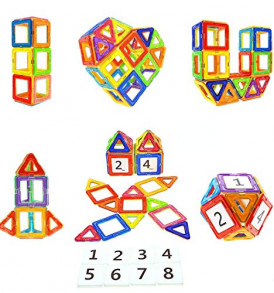 Magnetic-Blocks-STEM-Educational-Toys-Magnet-Building-Block-Tiles-Set-for-Boys-and-Girls-by-Coodoo-0