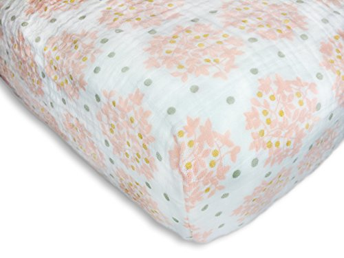 SwaddleDesigns-Cotton-Muslin-Crib-Sheet-Heavenly-Floral-with-Shimmer-Pink-0